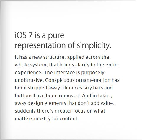 ios7 simple design