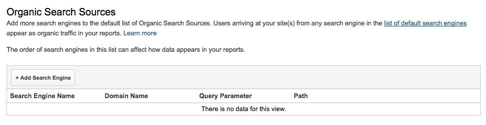 google analytics organic search sources