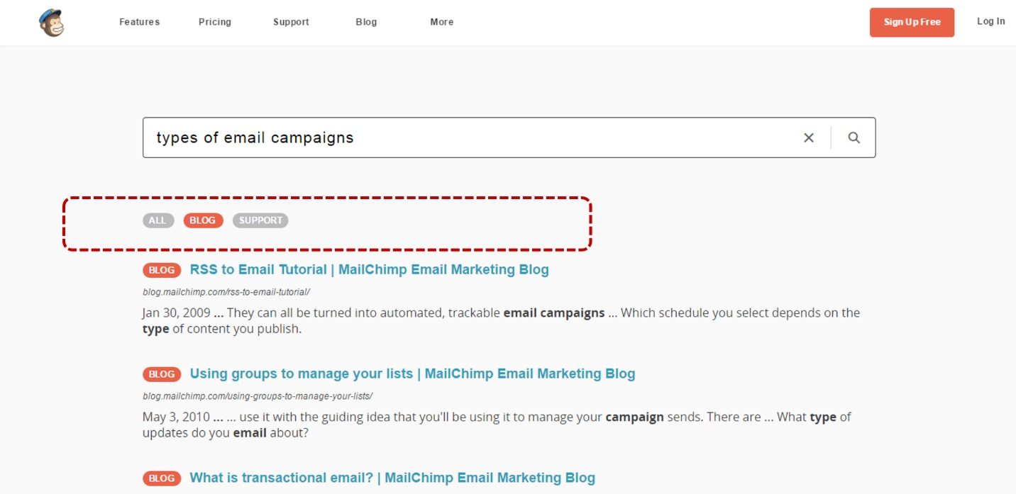 mailchimp search