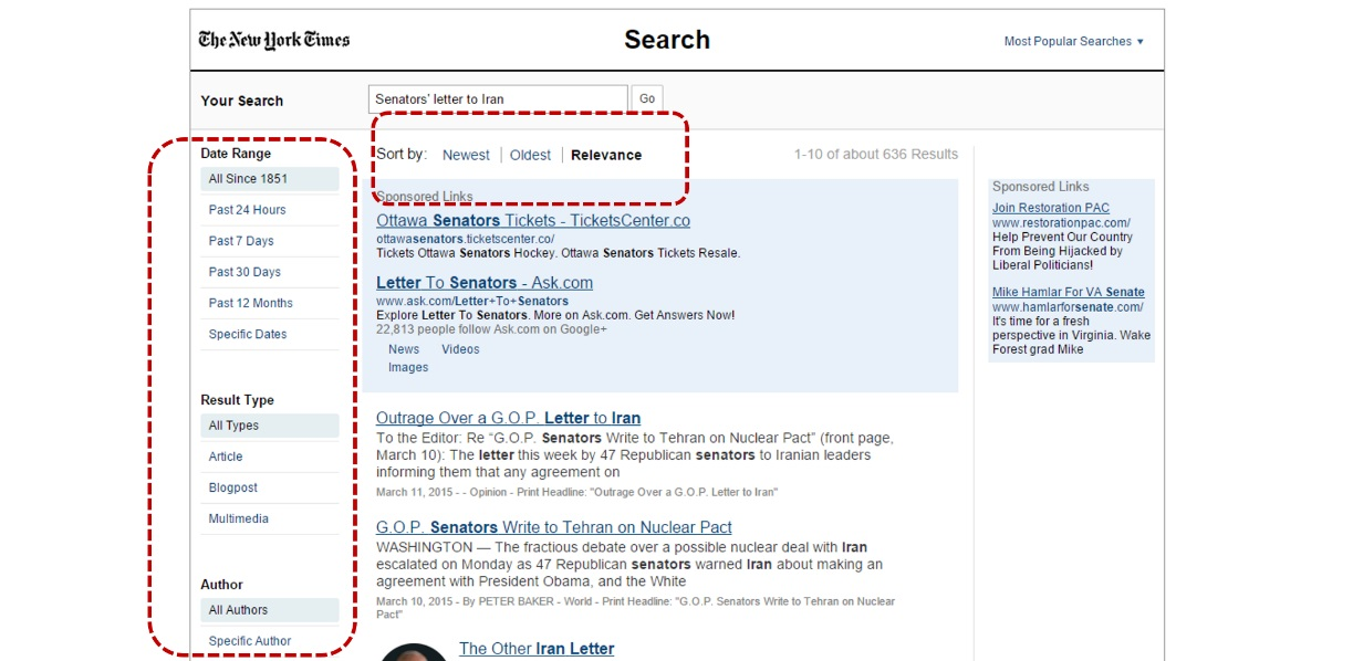 new york times search